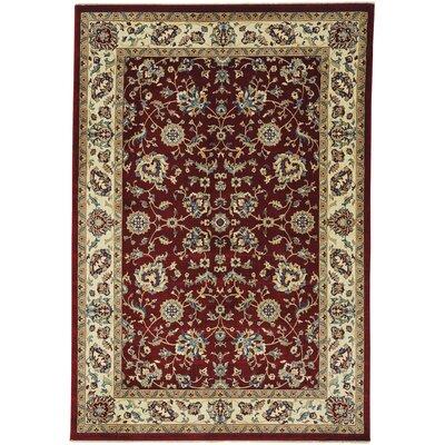 Tobar Keshan Red/Beige Area Rug Rug Size: 3 x 5