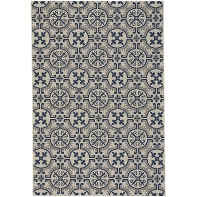 Bainsbury Tile Blue Indoor/Outdoor Area Rug Rug Size: 53 x 76