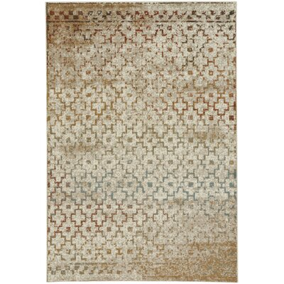Pilesgrove Mission Beige Area Rug Rug Size: 44 x 62
