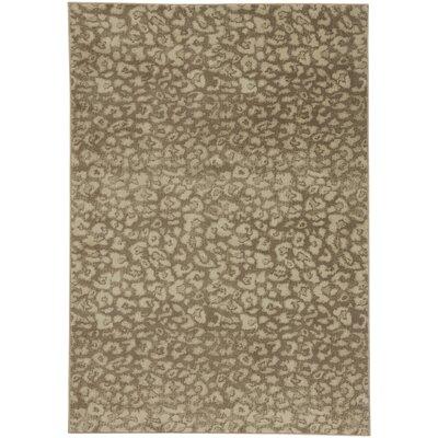Rhea Camel Tan Area Rug Rug Size: 53 x 76