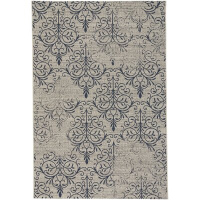 Boyster Heirloom Blue Indoor/Outdoor Area Rug Rug Size: 53 x 76