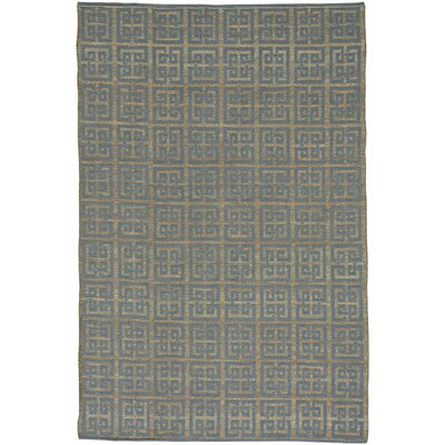 Maci Flat Blue/Brown Area Rug Rug Size: 3 x 5