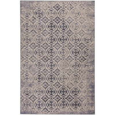 Eibhlin Del Mar Wool Blue/Beige Area Rug Rug Size: 53 x 76
