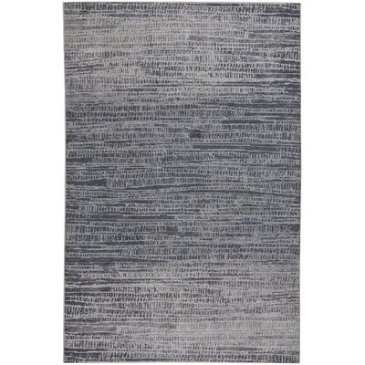 Junie Skyline Wool Blue Area Rug Rug Size: 53 x 76