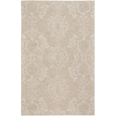 Oyer Hand-Tufted Wool Beige Area Rug Rug Size: 5 x 8