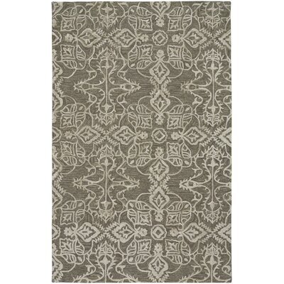 Oyer Hand Tufted Wool Green Area Rug Rug Size: 5 x 8