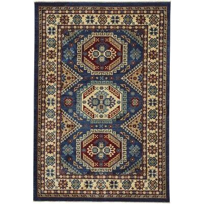 Chardae Kazak Blue/Beige Area Rug Rug Size: 3 x 5