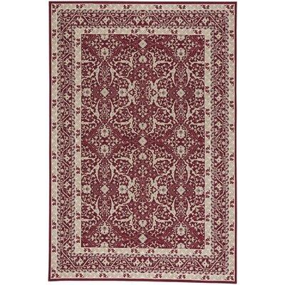 Westerlo Ziegler Wool Red Area Rug Rug Size: 53 x 76