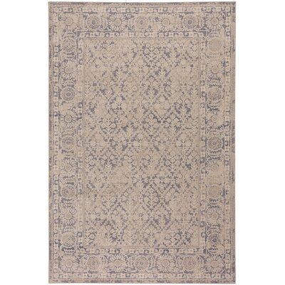 Oyler Terrace Wool Beige Area Rug Rug Size: 92 x 125