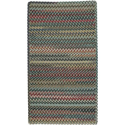 Heidi Green/Red Area Rug Rug Size: 114 x 144
