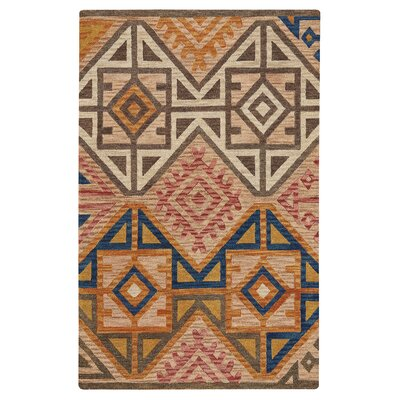 Oribe Hand-Tufted Wool Brown/Beige Area Rug Rug Size: 36 x 56