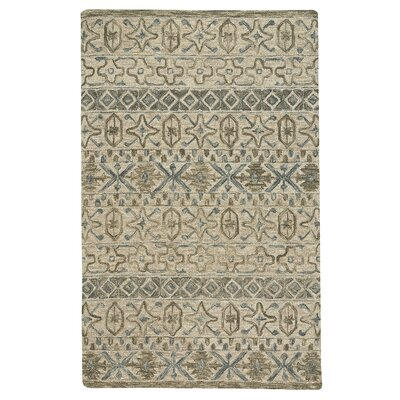 Birch Hill Hand-Tufted Wool Beige Area Rug Rug Size: 36 x 56