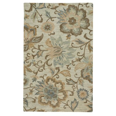 Birch Hill Traditional Hand-Tufted Wool Beige Area Rug Rug Size: 36 x 56
