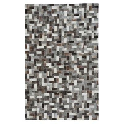 Ramanna Black/Gray Area Rug Rug Size: 5 x 8