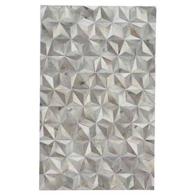 Ramanna Diamond Gray Area Rug Rug Size: 5 x 8
