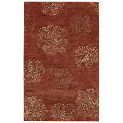 Desert Plateau Red Hibiscus Area Rug Rug Size: 5 x 8