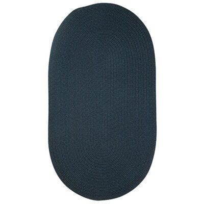 Manteo Dark Blue Area Rug Rug Size: Oval 114 x 144