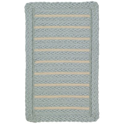 Boathouse Blue Indoor/Outdoor Area Rug Rug Size: Cross Sewn 18 x 26