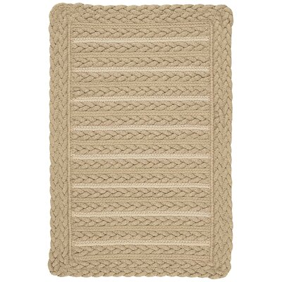 Boathouse Beige Indoor/Outdoor Area Rug Rug Size: Cross Sewn 18 x 26