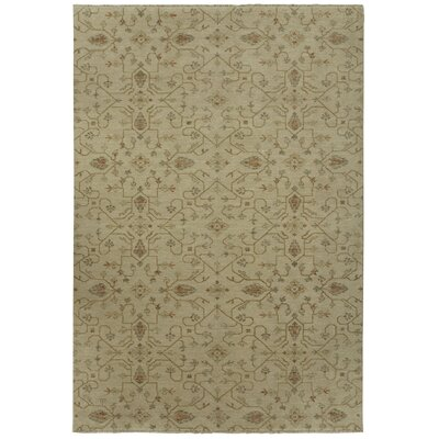 Heavenly Beige Floral Area Rug Rug Size: 6' x 9'