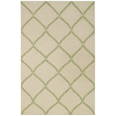 Parable Grass Hand-Knotted Green Area Rug Rug Size: 5 x 8