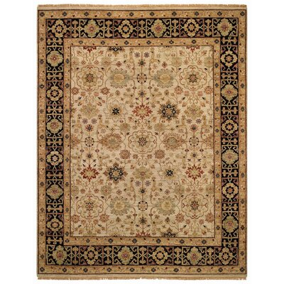 Gloria Beige/Ebony Kuba Area Rug Rug Size: Rectangle 2 x 3