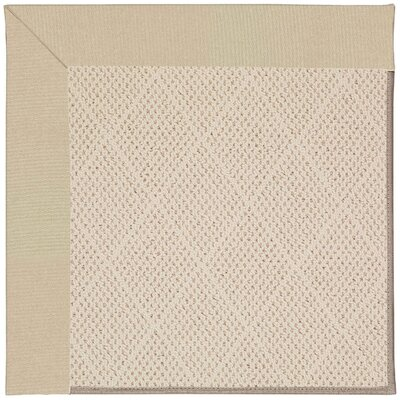 Zoe Ecru Indoor/Outdoor Area Rug Rug Size: Square 6