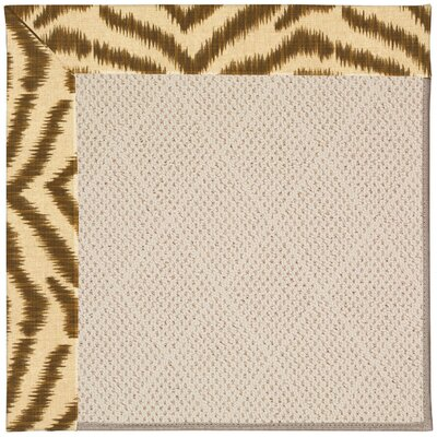 Zoe Light Brown Indoor/Outdoor Area Rug Rug Size: Square 8'