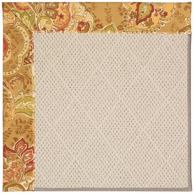 Zoe Light Brown Indoor/Outdoor Area Rug Rug Size: Square 6'