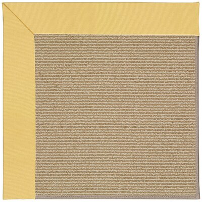 Zoe Machine Tufted Lemon/Brown Indoor/Outdoor Area Rug Rug Size: 10 x 14