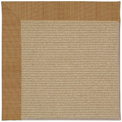 Zoe Machine Tufted Golden/Brown Indoor/Outdoor Area Rug Rug Size: Square 10