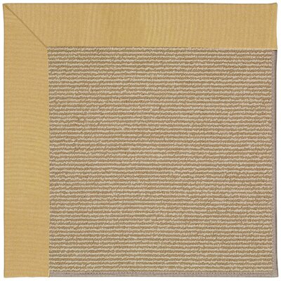 Zoe Machine Tufted Wheatfield and Beige Indoor/Outdoor Area Rug Rug Size: Round 12 x 12