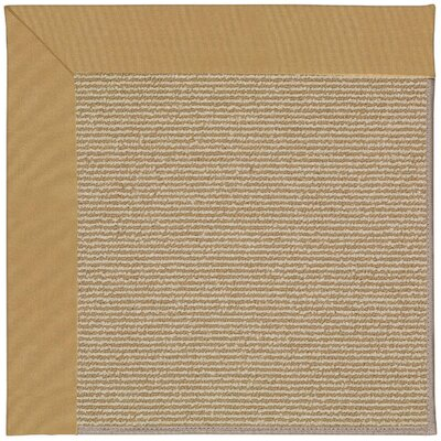 Zoe Machine Tufted Bronze and Beige Indoor/Outdoor Area Rug Rug Size: Square 10