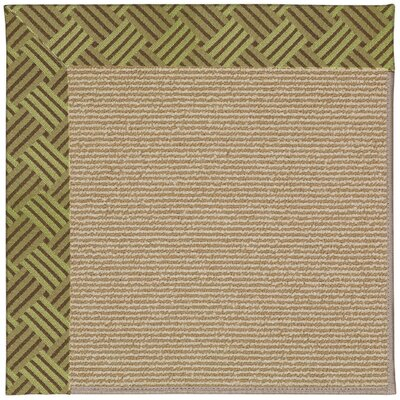 Zoe Machine Tufted Mossy Green/Brown Indoor/Outdoor Area Rug Rug Size: Square 10