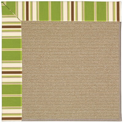 Zoe Sisal Machine Tufted Green Indoor/Outdoor Area Rug Rug Size: Round 12 x 12