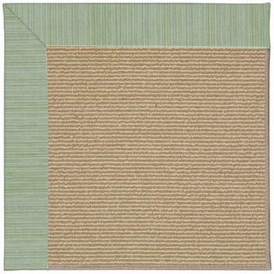 Zoe Machine Tufted Green Spa and Beige Indoor/Outdoor Area Rug Rug Size: Round 12 x 12