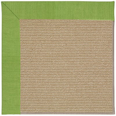 Zoe Machine Tufted Grass and Beige Indoor/Outdoor Area Rug Rug Size: Round 12 x 12