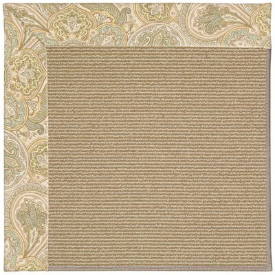 Zoe Machine Tufted Quarry/Brown Indoor/Outdoor Area Rug Rug Size: Round 12 x 12