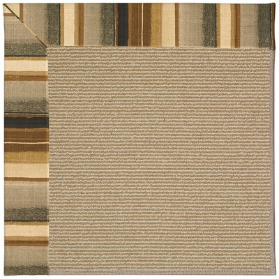Zoe Machine Tufted Cinders/Brown Indoor/Outdoor Area Rug Rug Size: Square 10