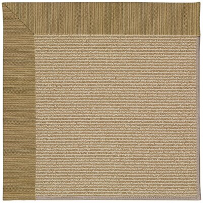 Zoe Machine Tufted Green Indoor/Outdoor Area Rug Rug Size: Round 12 x 12