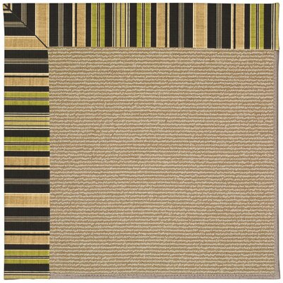 Zoe Brown Indoor/Outdoor Area Rug Rug Size: Square 4'