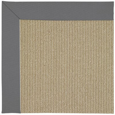 Zoe Machine Tufted Ash/Brown Indoor/Outdoor Area Rug Rug Size: Round 12 x 12