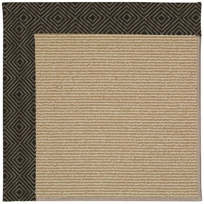 Zoe Machine Tufted Magma/Brown Indoor/Outdoor Area Rug Rug Size: Square 10