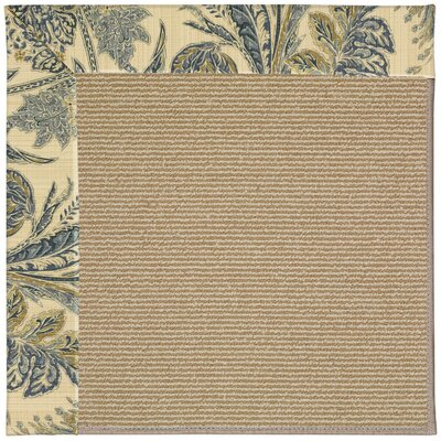 Zoe Machine Tufted High Seas/Brown Indoor/Outdoor Area Rug Rug Size: Square 10