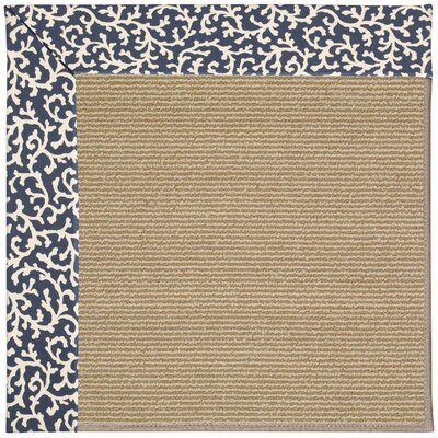 Zoe Machine Tufted Midnight/Brown Indoor/Outdoor Area Rug Rug Size: Square 10