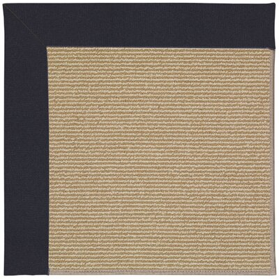 Zoe Machine Woven Navy Blue/Beige Indoor/Outdoor Area Rug Rug Size: Round 12 x 12