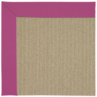 Zoe Machine Tufted Pink/Brown Indoor/Outdoor Area Rug Rug Size: Square 10
