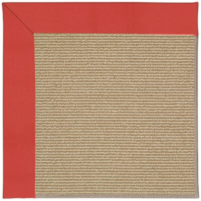 Zoe Machine Tufted Sunset Red/Brown Indoor/Outdoor Area Rug Rug Size: Round 12 x 12