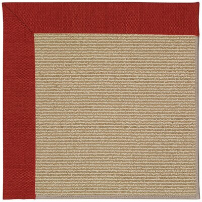 Zoe Machine Tufted Tomatoes and Beige Indoor/Outdoor Area Rug Rug Size: Round 12 x 12