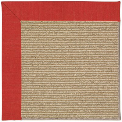 Zoe Machine Tufted Red Crimson/Brown Indoor/Outdoor Area Rug Rug Size: Square 10